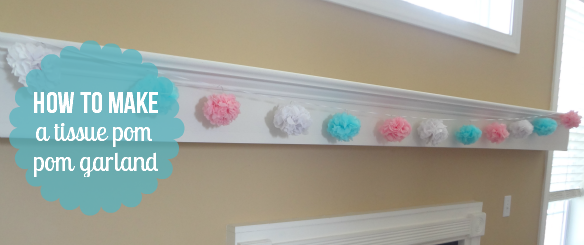 How to make a tissue pom pom garland via One Stylish Party