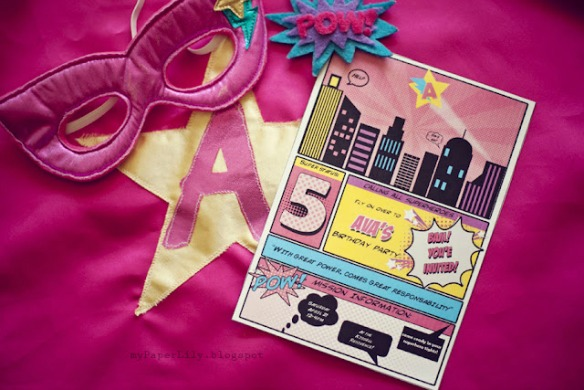 Girly Superhero Party by My Paper Lily