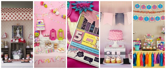 Modern Girly Parties with a Traditionally Boy Theme
