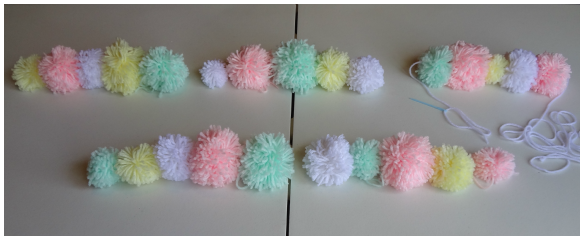 Yarn Pom Pom Garland Tutorial by One Stylish Party