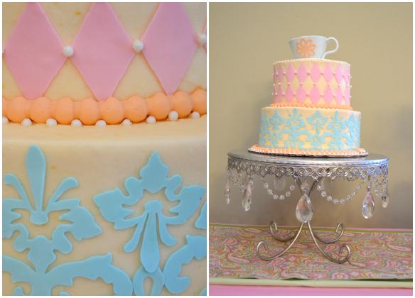 Whimsical Tea Party Cake