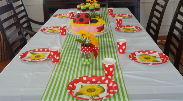 Little Ladybug Party Table via One Stylish Party