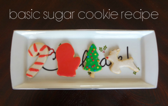Basic Sugar Cookie Recipe via One Stylish Party