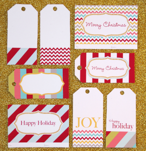 Free Printable Holiday Gift Tags by Living Locurto via One Stylish Party