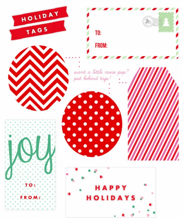 photo relating to Christmas Tag Free Printable called 10 Totally free Printable Xmas Tags