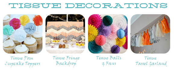 2013 Party Trends – Tissue Paper Decorations – One Stylish Party