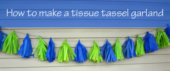 How to make a tissue tassel garland via One Stylish Party