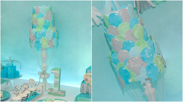 up up and away balloon cake