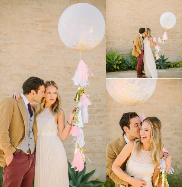 Wedding Confetti Balloon – Kate Spade Inspired Wedding – As seen on Ruffled