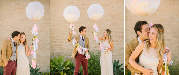Wedding Confetti Balloon as seen on Ruffled Blog