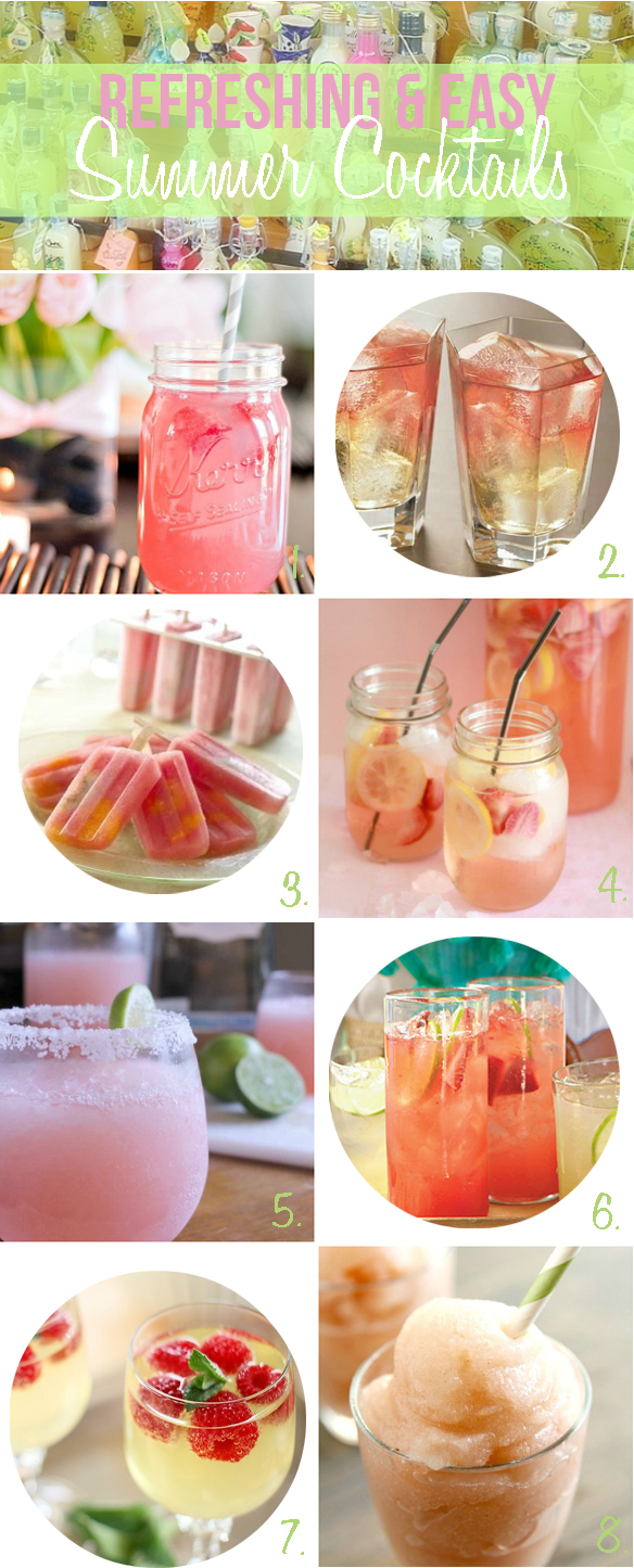 Refreshing easy summer cocktail recipes one stylish party for Easy cocktail recipes for parties