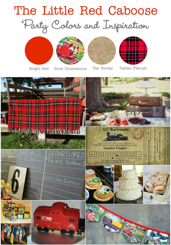 The Little Red Caboose Party Inspiration Board-resized