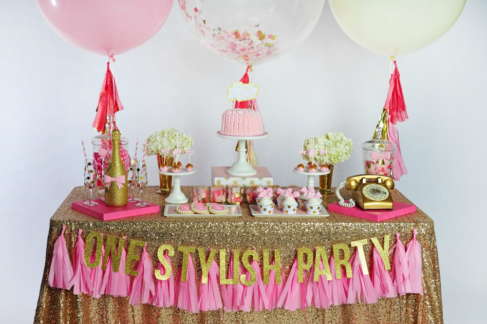 pink-gold-champagne-dessert-table