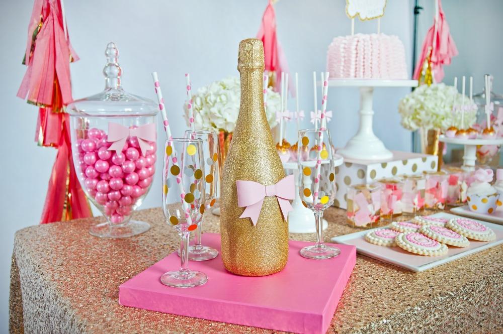 pink-gold-glitter-diy-champagne-bottle