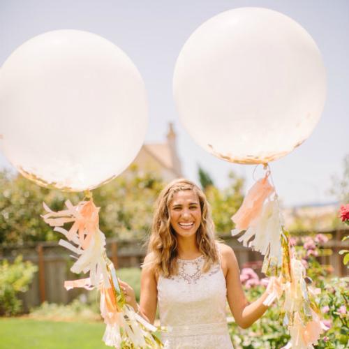 Peach Jumbo Confetti Balloon