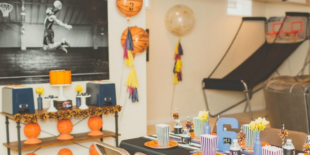 Cleveland Cavs Basketball Birthday Party