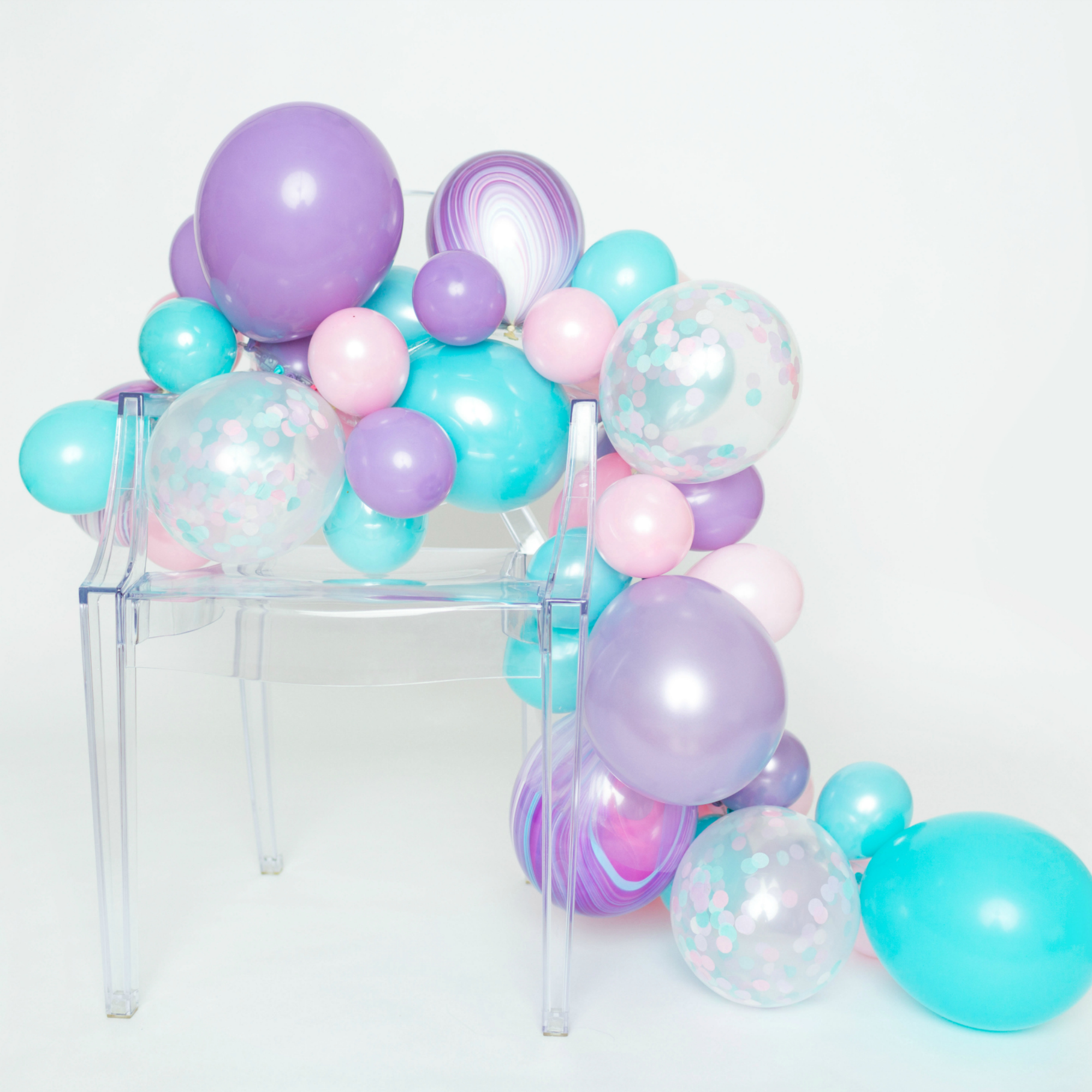 Diy Balloon Garland Kit Cotton Candy