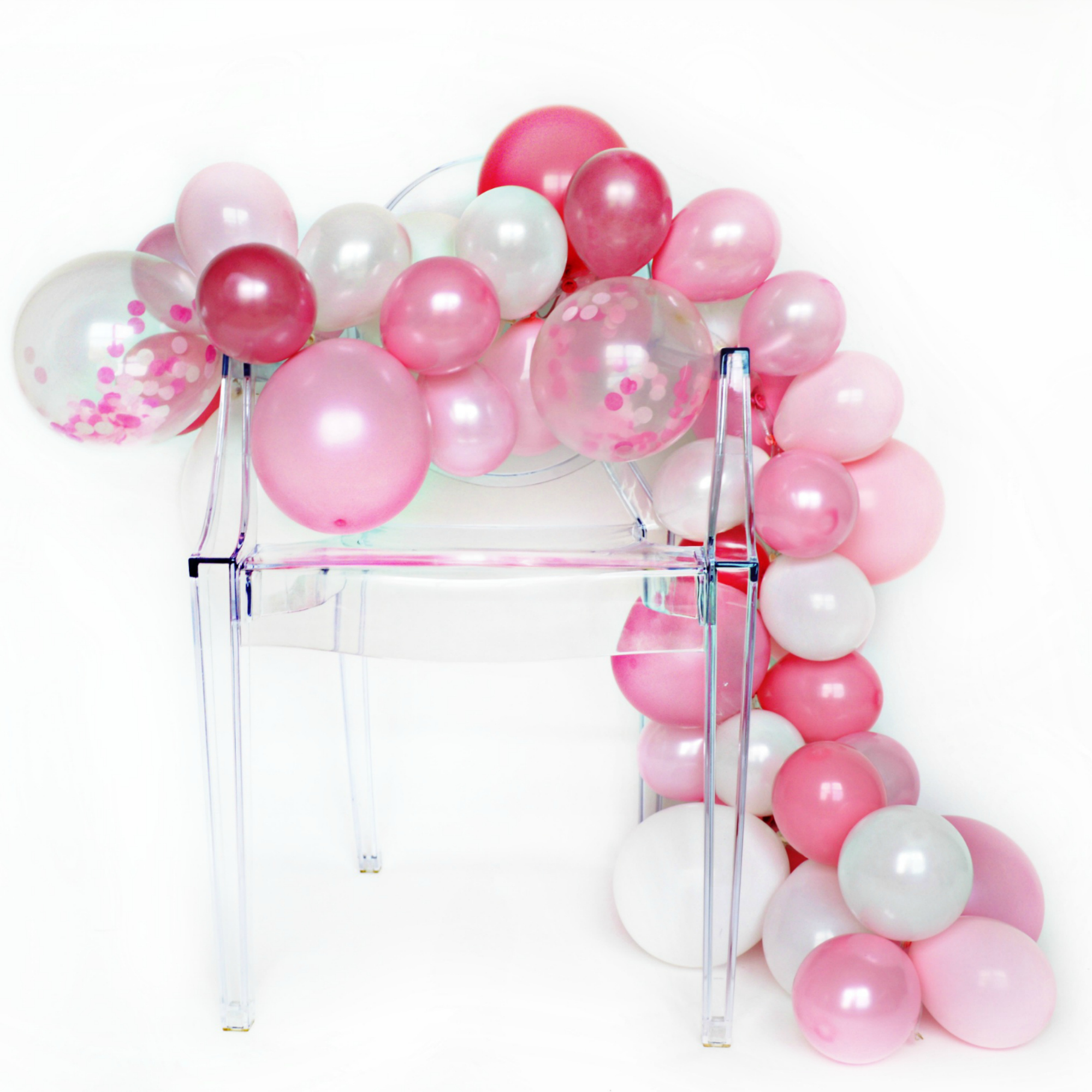 Diy Balloon Garland Kit Pink Peony
